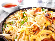 Alimento tailandese, pancake con la cozza Immagine Stock Libera da Diritti