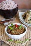 Alimento tailandese, patè piccante del gamberetto Fotografia Stock