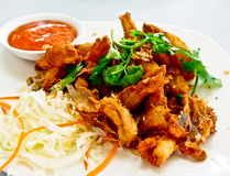 Alimento tailandese, pesce fritto croccante 1 fotografia stock