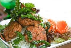 Alimento tailandese: Pla dell'uomo di Tod Fotografie Stock