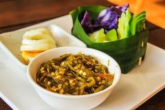 Alimento tailandês do norte da tradição Fotografia de Stock
