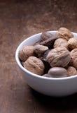 Alimento - tazón de fuente de tuercas Foto de archivo libre de regalías