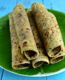 Alimento-Thepla indiano foto de stock