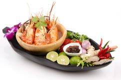 Alimento Tom Yum Kung de Tailândia. fotografia de stock