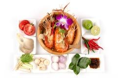 Alimento Tom Yum Kung de Tailândia fotos de stock