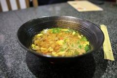 Alimento tradicional chinês, macarronetes triturados Fotografia de Stock
