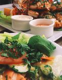 alimento tradicional de Europa, receita do marisco imagem de stock