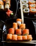 Alimento tradicional de Japão - rolo Fotos de Stock