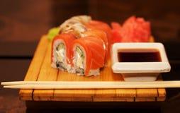 Alimento tradicional de Japón - rodillo Imagen de archivo libre de regalías