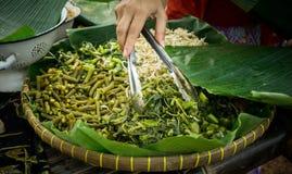 Alimento tradicional de Kluban de Indonésia Ásia Imagem de Stock Royalty Free