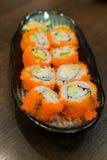 Alimento tradicional do sushi japonês Imagem de Stock Royalty Free