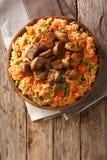 Alimento tradicional mexicano: arroz cozinhado com tomates, ervilhas verdes imagem de stock royalty free