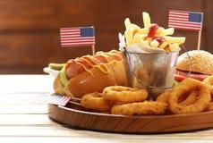 Alimento tradicional para a celebração do 4 de julho Imagens de Stock