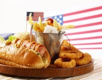 Alimento tradicional para a celebração do 4 de julho Foto de Stock
