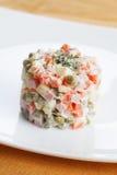Alimento tradicional ruso del Año Nuevo Imágenes de archivo libres de regalías