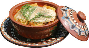 Alimento tradicional servido na placa Fotos de Stock Royalty Free