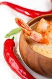 Alimento tradicional tailandês quente e ácido da sopa e do camarão Imagem de Stock