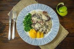 Alimento tradizionale di Feijoada del brasiliano fotografia stock