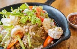 Alimento tradizionale famoso tailandese dell'insalata di vetro della tagliatella Immagine Stock Libera da Diritti