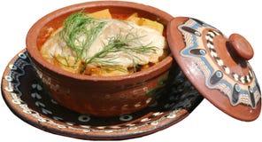 Alimento tradizionale servito in piatto Fotografie Stock Libere da Diritti