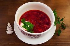 Alimento tradizionale ucraino, borsch Fotografia Stock Libera da Diritti
