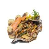 Alimento tropical dos peixes e dos veggies Fotos de Stock