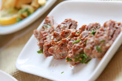 Alimento turco e arabo di Kebab Fotografie Stock