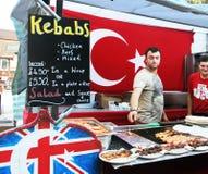 Alimento turco en el mercado de Camden Fotos de archivo