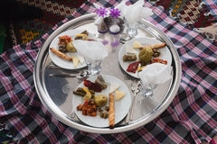 Alimento turco tradizionale su una zolla Fotografie Stock