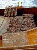 Alimento in una barca Fotografia Stock