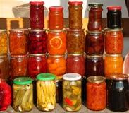 Alimento in vasi Fotografia Stock