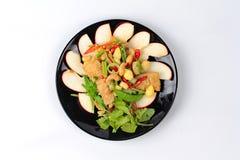 Alimento vegetal chinês do festival como a porca e a nogueira-do-Japão fritadas de cajus com legumes misturados, & x22; Festival& Imagem de Stock