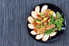Alimento vegetal chinês do festival como a porca e a nogueira-do-Japão fritadas de cajus com legumes misturados, & x22; Festival& Imagens de Stock Royalty Free