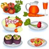Alimento vegetariano 1 stock de ilustración