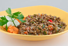 Alimento vegetariano asiatico tradizionale della lenticchia Immagini Stock