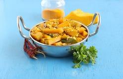 Alimento vegetariano indiano del curry dolce della zucca immagine stock