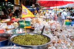 Alimento vegetariano nel mercato con il festival vegetariano immagini stock libere da diritti
