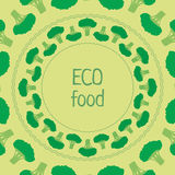 Alimento verde di eco del cerchio dei broccoli del modello di vettore Fotografia Stock Libera da Diritti