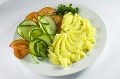 Alimento, verdure, vegetariano, patata, purè Immagine Stock Libera da Diritti