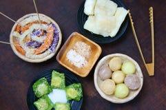 Alimento vietnamiano da rua, bolo doce Fotos de Stock