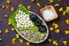 Alimento vietnamiano, mingau doce da semente dos lótus Foto de Stock