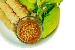 Alimento vietnamiano/Nem Noung Xa Foto de Stock