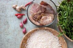 Alimento vietnamiano, sopa dos peixes Imagem de Stock Royalty Free