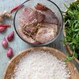 Alimento vietnamiano, sopa dos peixes Fotos de Stock
