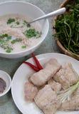 Alimento vietnamiano, sopa dos peixes Fotografia de Stock Royalty Free