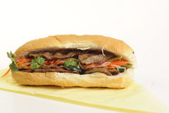 Alimento vietnamita aislado en blanco Imagen de archivo