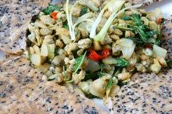 Alimento vietnamita, cozza, carta di riso, cibo del Vietnam Immagini Stock Libere da Diritti