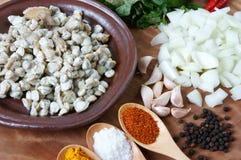 Alimento vietnamita, cozza, carta di riso, cibo del Vietnam Fotografia Stock