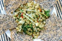 Alimento vietnamita, cozza, carta di riso, cibo del Vietnam Immagine Stock