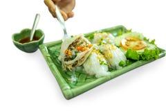 Alimento vietnamita del rotolo della verdura fotografia stock libera da diritti